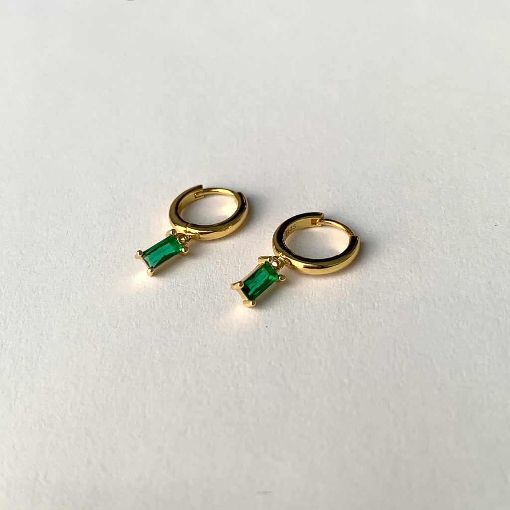 Hanna Uno Earrings in Green