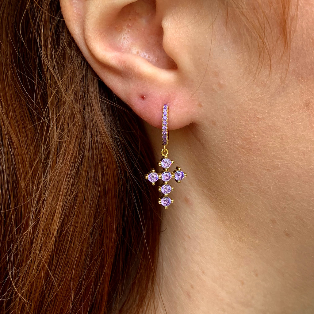 Zahara Earrings in Purple