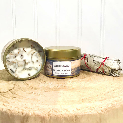 White Sage Aromatherapy Soy Wax Candle