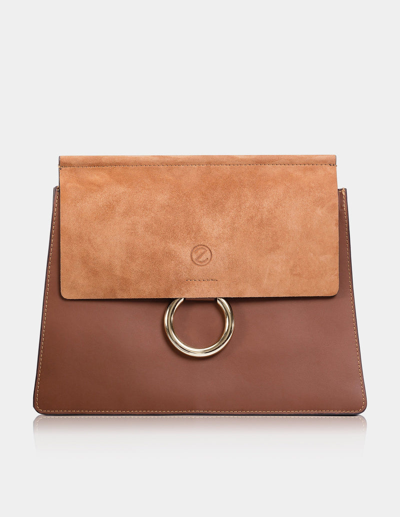 Lilly Clutch Camel Brown