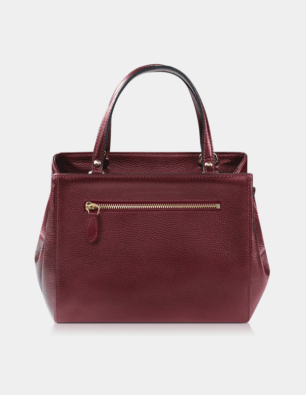 Adakee Handbag Metallic Red