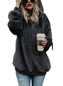 Winter Warm Wool Fleece Tunic Sweatshirt