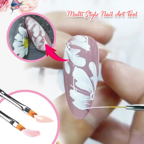 FloraPen - Chic Flower Petal Nail Art Brush Pen Set