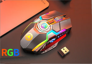Wireless Gaming RGB Rechargeable  Mouse