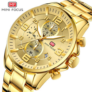 Gold Sport Quartz Watches