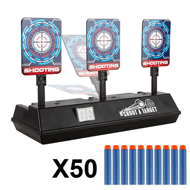 Intelligent Auto-Reset Electronic Scoring Target for Nerf N-Strike Elite/Mega/Rival Series