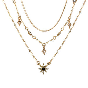 Bohemian Gold Star Pendant Necklaces