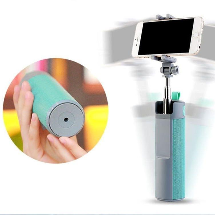 Smart Can - Multifunctional Wireless Speaker, Power Bank, Selfie Stick and Phone Mount