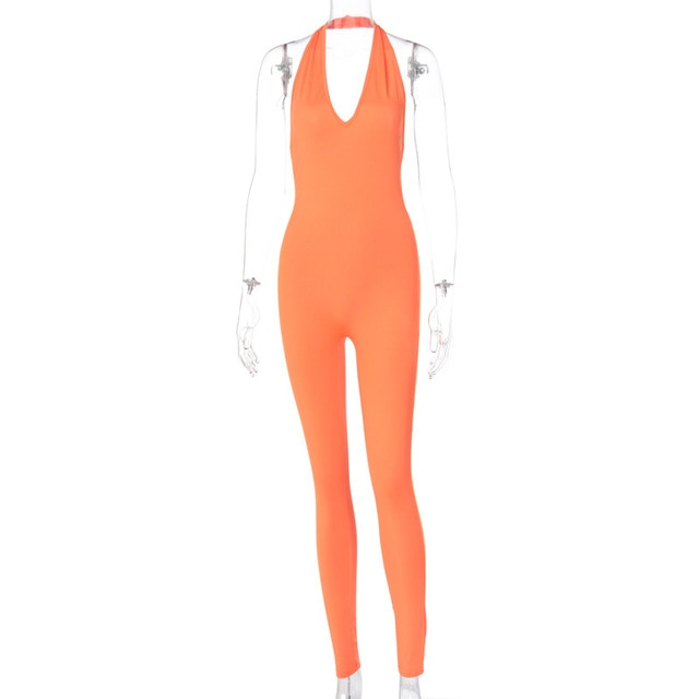 Solid Bodycon  Long Jumpsuits