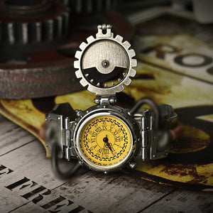 Luxury Vintage Steampunk Gothic Men's Quartz Watch
