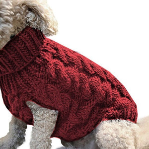 Warm Knitted Dog Clothes