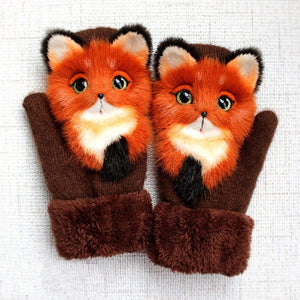 Thick Warm Kids Cartoon Gloves for Winter
