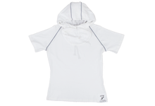 Load image into Gallery viewer, Pure-Air™  Short Sleeve Ladies White with Hood