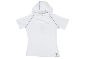 Pure-Air™  Short Sleeve Ladies White with Hood