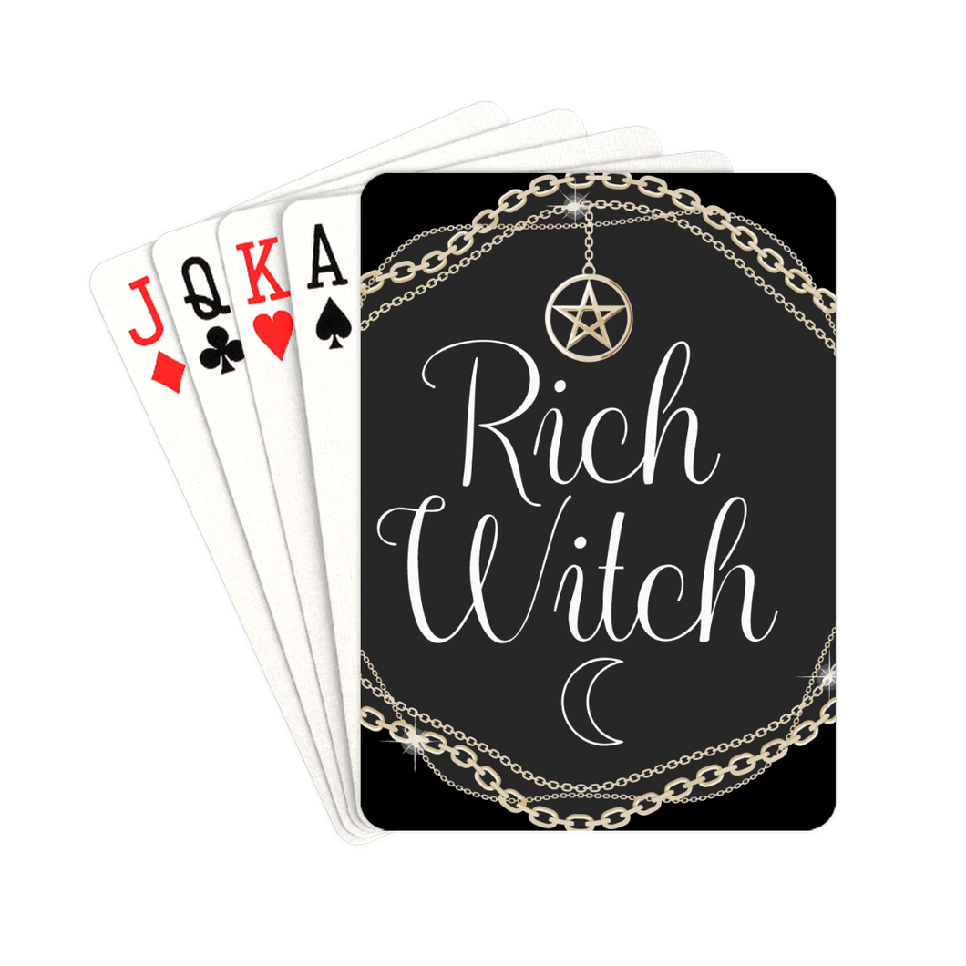 BeWitchy™ rich witch playing cards Playing Cards