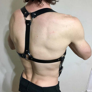Belt Cowboy Men Leather Harnesses