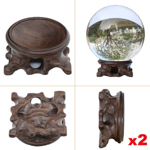 2pcs Wood Display Stand for Glass Ball 60mm 80mm 100mm