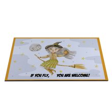 "Load image into Gallery viewer, If you fly... Rubber Floor Mat Rubber Carpet 16"" x 24"""