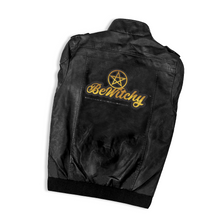 Load image into Gallery viewer, BeWitchy Men's PU Leather Motorcycle Jacket with Removable Hood