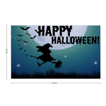 "Load image into Gallery viewer, Happy Halloween Rubber Floor Mat Rubber Carpet 16"" x 24"""