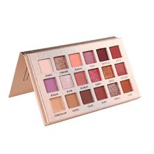 Load image into Gallery viewer, Beauty Glazed 18 Color Diamond Pearlescent Waterproof Eyeshadow Palette