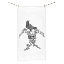Load image into Gallery viewer, BeWitchy™ Raven and skull towel Bath Towel