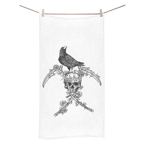 BeWitchy™ Raven and skull towel Bath Towel