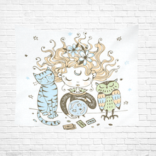 Load image into Gallery viewer, BeWitchy™  Witchy Cat Hang Cotton Linen Wall Tapestry