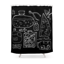 Load image into Gallery viewer, Gettin' Witchy With It Shower Curtain Set With Non-slip Floor Mat