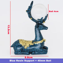 Load image into Gallery viewer, Resin Deer Figurine Display Stand for Glass Ball