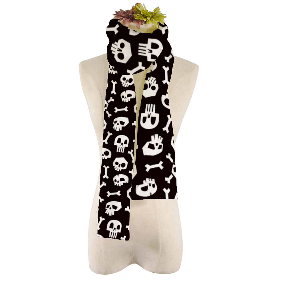BeWitchy Skull Plush Scarf