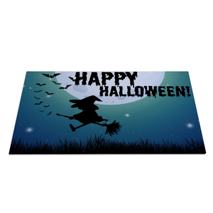 "Happy Halloween Rubber Floor Mat Rubber Carpet 16"" x 24"""