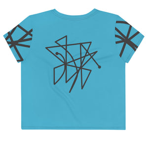 "BeWitchy™ Sigil ""send back curses"" All-Over Print Crop Tee"