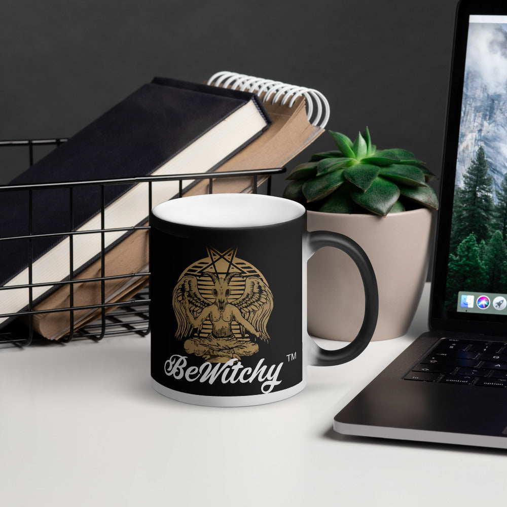 The BeWitchy Baphomet Matte Black Magic Mug