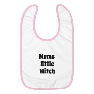 Mums Lil Witch Embroidered Baby Bib