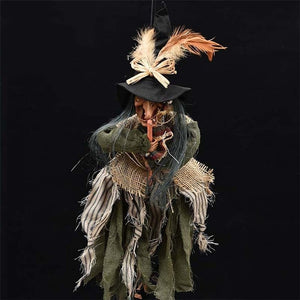 Animated Horror Halloween Witch Decoration