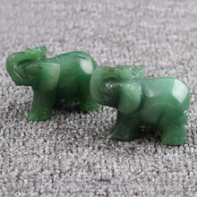 Load image into Gallery viewer, New 1pc Opal/Obsidian/Crystal/Jade Elephants