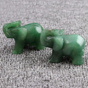 New 1pc Opal/Obsidian/Crystal/Jade Elephants