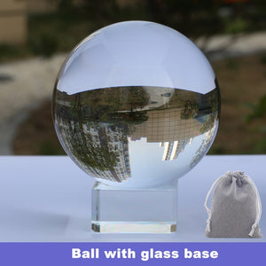 Crystal Lens Ball 60mm 70mm 80mm Divination Sphere With Stand Base Bag