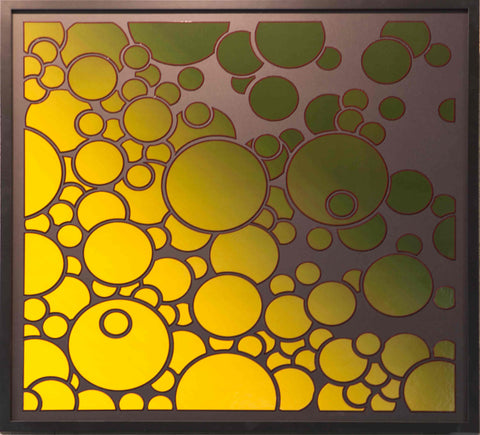 Poptones 2: Dissipating yellow, ulchipately green but framed in black by Chip Wardale