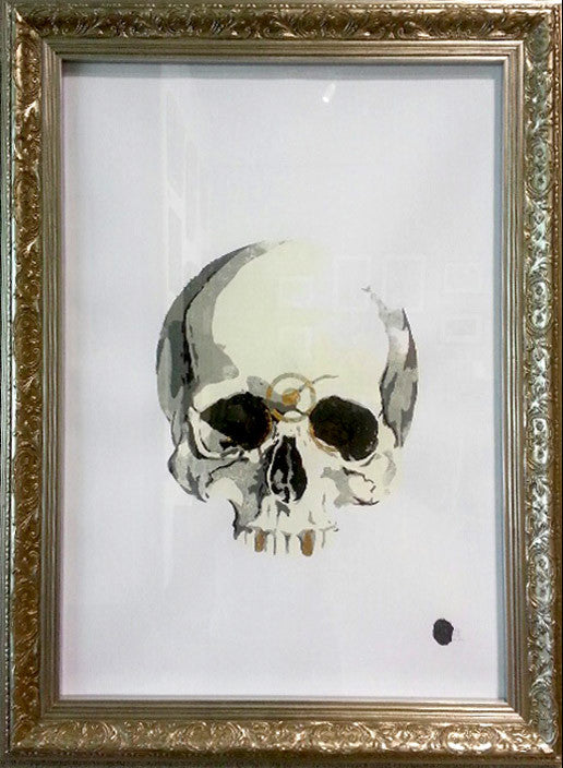 Skull, gold and an open mind, print 1 by SQEG