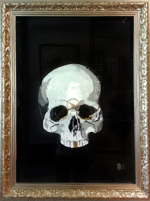 Skull, gold and an open mind, print 2 by SQEG