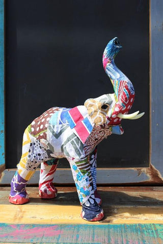 Elephant Paper Mache Patchwork - HomeStreetHome.ie