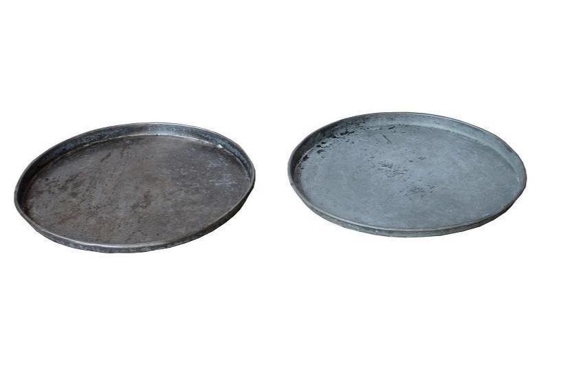 Round Vintage Zinc Tray - HomeStreetHome.ie