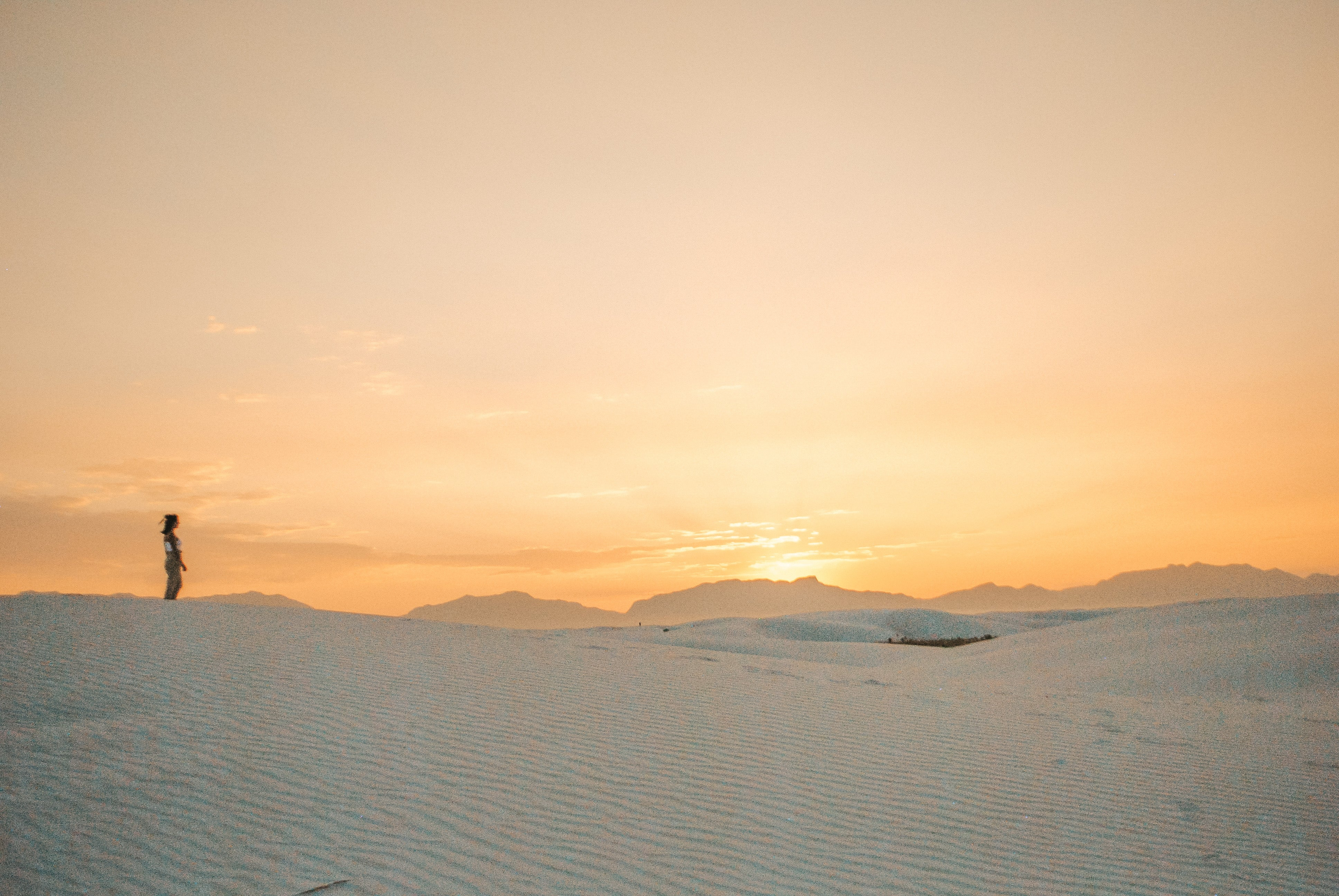 taking in the view at white sands