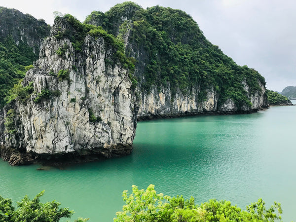 lime stones in ha long bay