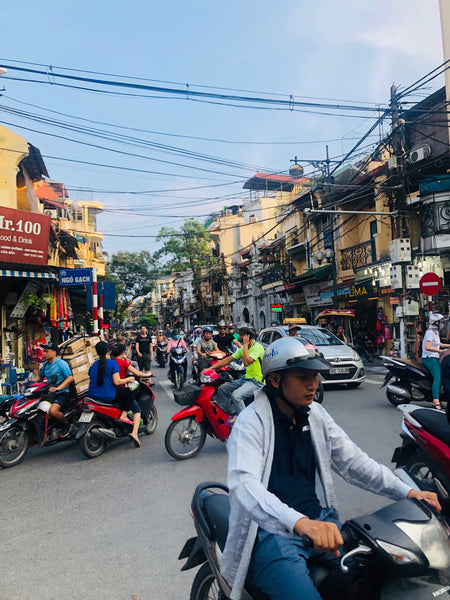 busy streets of hanoi