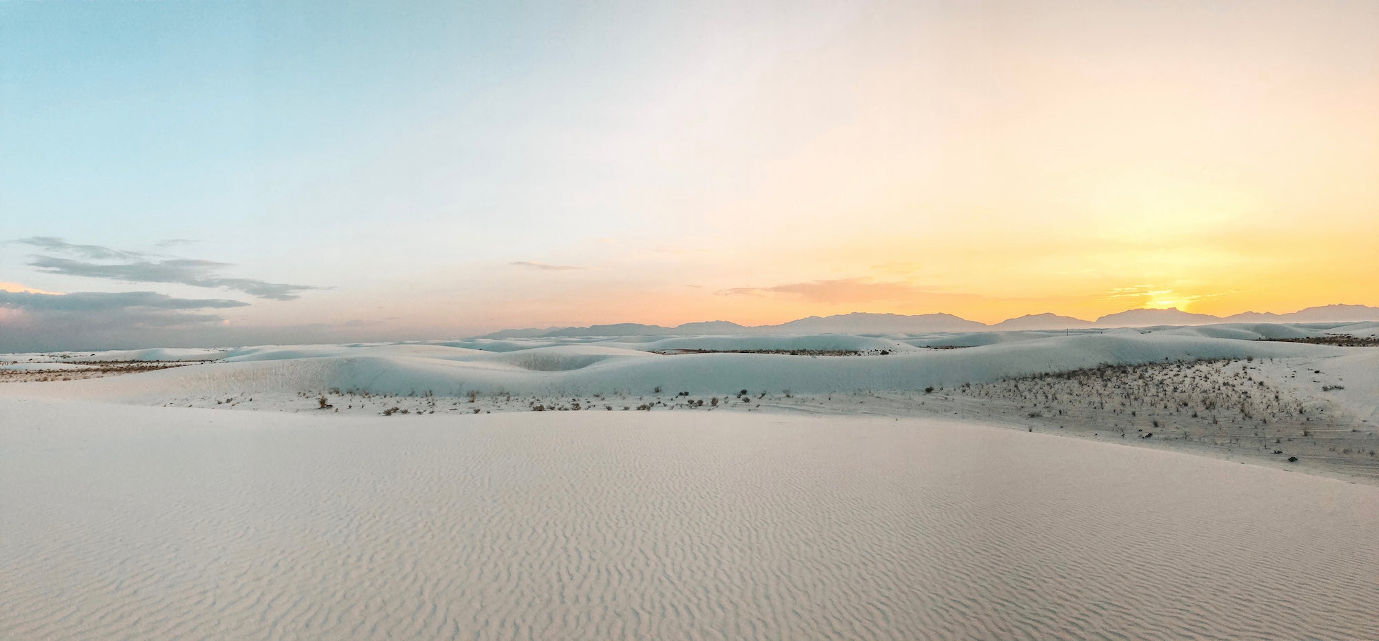 panorama of white sands