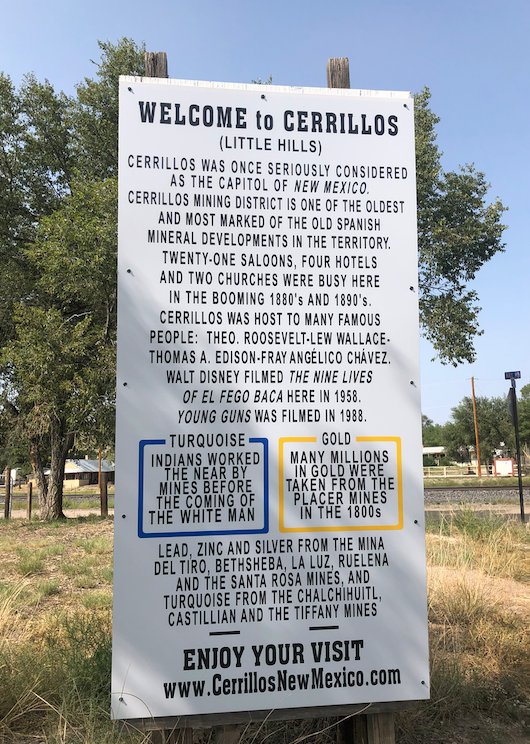 about Cerrillos, new mexico
