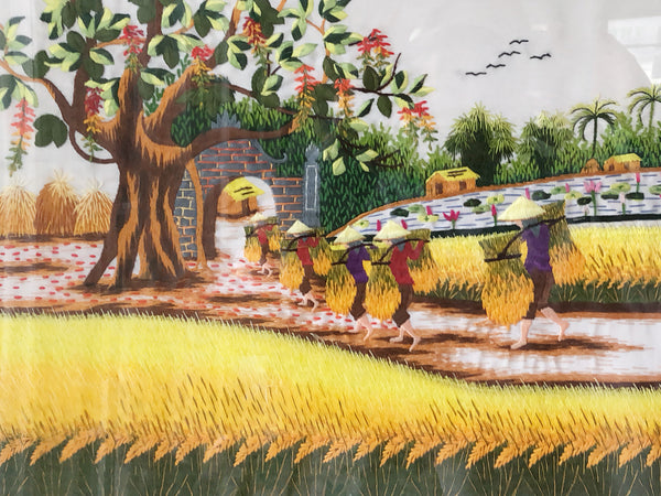 Vietnam embroidery art